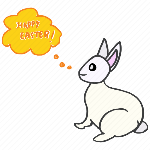bunny, celebrate, easter, festival, greeting, rabbit, wishes icon