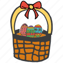 basket, celebration, decoration, easter, eggs, festival, gift icon