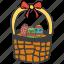 basket, celebration, decoration, easter, eggs, festival, gift icon