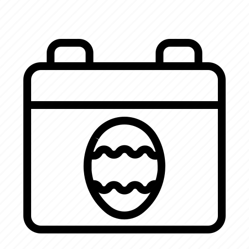 Calendar, celebration, easter egg, pasch icon - Download on Iconfinder