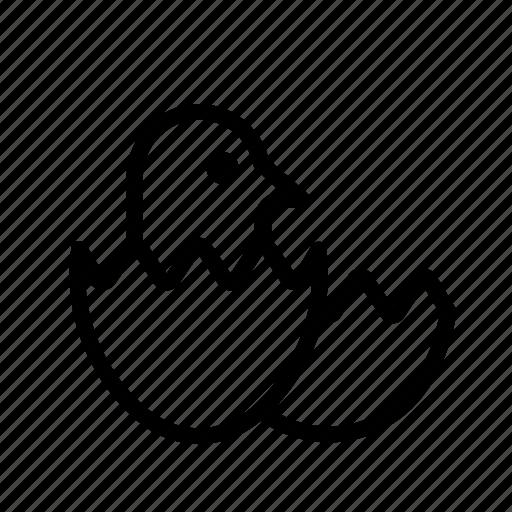 Chicken, egg, egg hatch, hatch icon - Download on Iconfinder