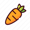 carrot, easter, egg, happy easter, holidays, spring season, vegetable icon