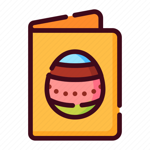 easter, easter card, egg, greeting card, happy easter, holidays, spring season icon