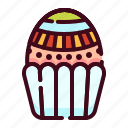 cake, easter, egg, happy easter, holidays, muffin, spring season icon