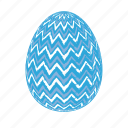 easter, easter eggs, easter eggs zigzag, easter-egg, egg, lightblue256x256 icon