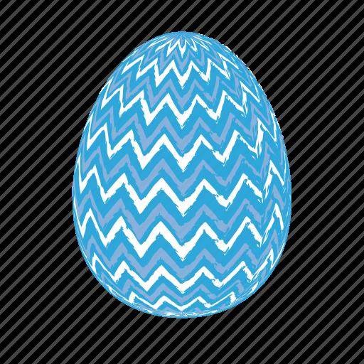 easter, easter eggs, easter eggs zigzag, easter-egg, egg, lightblue256x256 icon