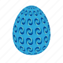 blue, easter, easter egg, easter eggs, egg, ornaments icon