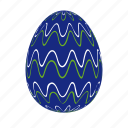 darkblue, easter, easter egg, easter eggs, egg, waves icon