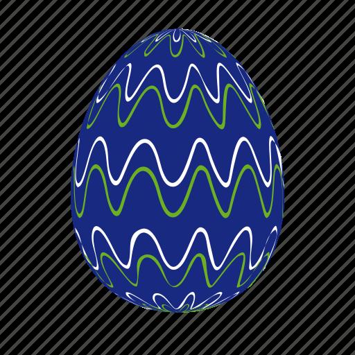 darkblue, easter, easter egg, easter eggs, egg, waves icon