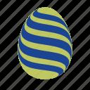 easter, easter egg, easter eggs, egg, green, waves icon