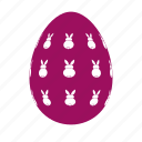 easter, easter egg, easter eggs, egg, rabbits icon