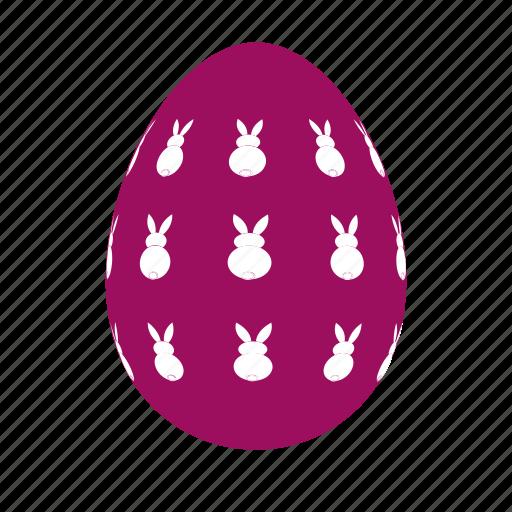 easter, easter egg, easter eggs, egg, rabbits icon