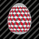 easter, easter egg, easter eggs, egg, gray, red icon