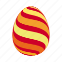 easter, easter egg, easter eggs, egg, orange, red, yellow icon