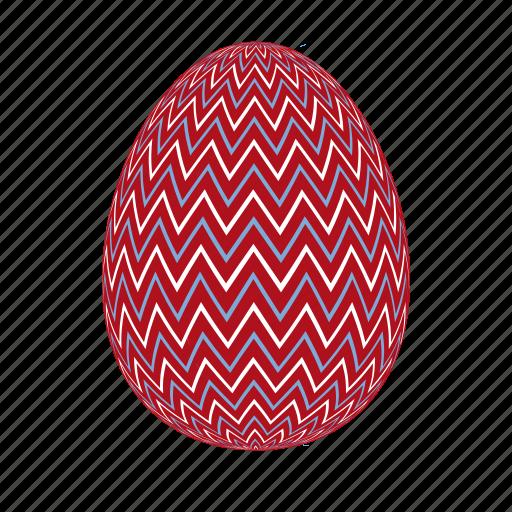 easter, easter egg, easter eggs, egg, red, zigzag icon