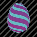 easter, easter egg, easter eggs, egg, green, violet icon
