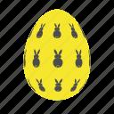 easter, easter egg, easter eggs, egg, yellow icon