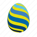 blue, easter, easter egg, easter eggs, egg, yellow icon