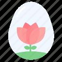 bunny, easter, egg, eggs, flower, garden, rabbit