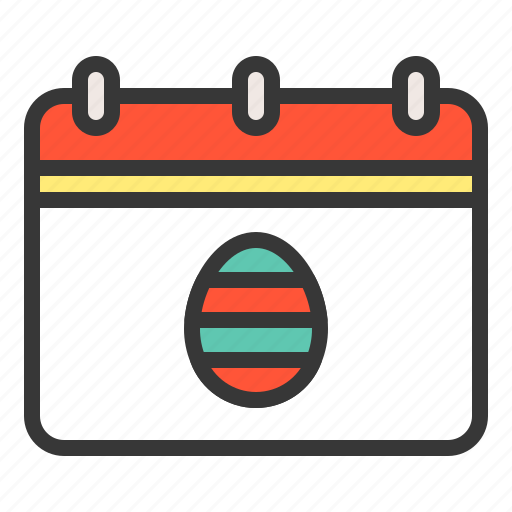 calendar, celebration, day, easter, easter day, holiday icon