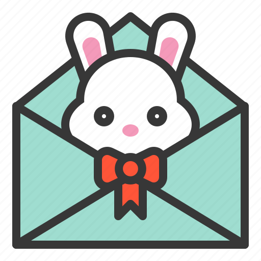 bunny, celebration, easter, holiday, letter, mail, message icon