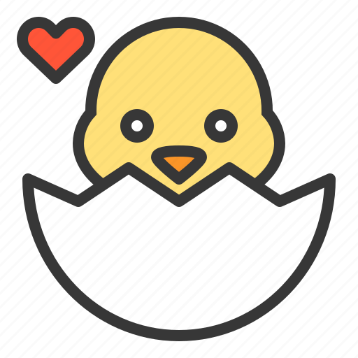 baby, celebration, chicken, easter, egg, first love, holiday icon