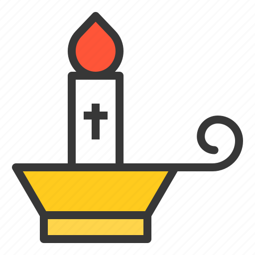 candle, celebration, easter, fire, holiday, jesus, lamp icon