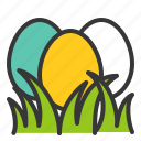 celebration, easter, easter egg, egg, egg hunt, grass, holiday icon