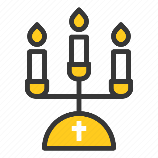 candle, candle stick, celebration, easter, fire, holiday icon