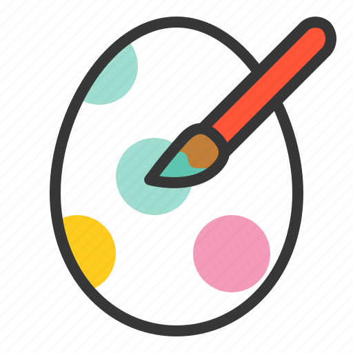 celebration, easter, easter egg, holiday, paint, painting icon