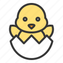 celebration, chicken, easter, egg, holiday icon