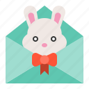 celebration, easter, holiday, mail, rabbit