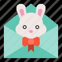 celebration, easter, holiday, mail, rabbit icon