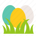 celebration, easter, egg, egg hunt, grass, holiday icon