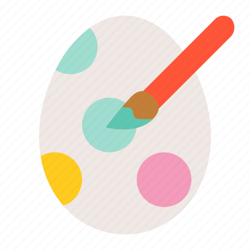 celebration, easter, easter egg, egg, holiday, paint, painting icon