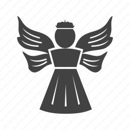 angel, death, decoration, heaven, holy, wings icon