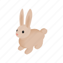 bunny, cute, easter, holiday, isometric, rabbit, spring icon