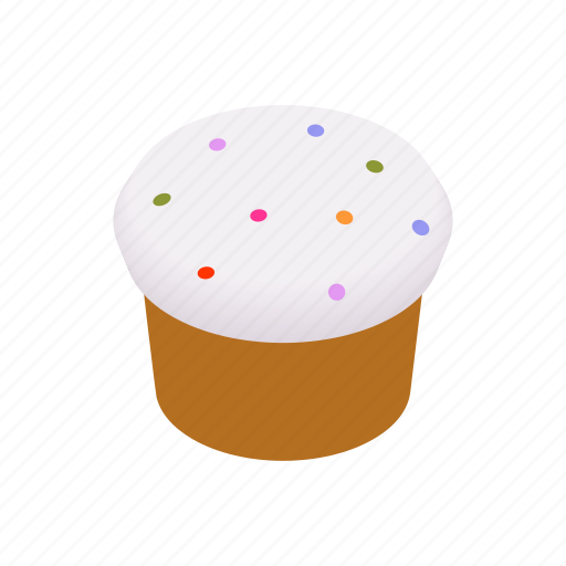 bread, cake, easter, food, isometric, sweet, traditional icon