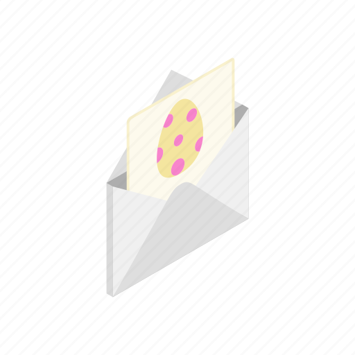 card, easter, egg, greeting, holiday, isometric, spring icon