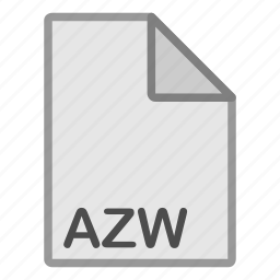 azw, ebook, extension, file, format, hovytech, type icon