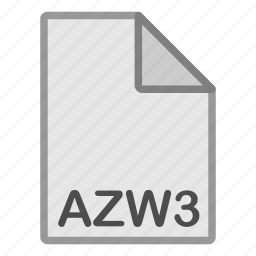 azw3, ebook, extension, file, format, hovytech, type icon