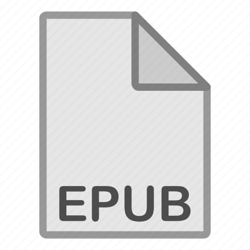 ebook, epub, extension, file, format, hovytech, type icon