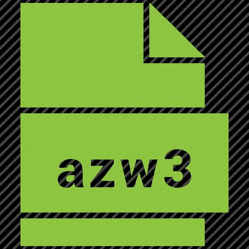 azw3, ebook file format, file format icon