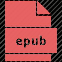 ebook file format, epub, file format icon