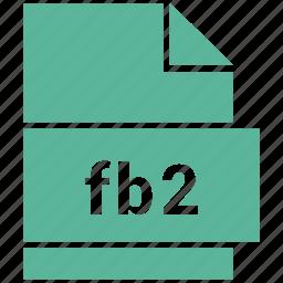 ebook file format, fb2, file format icon
