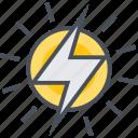 electric, energy, power, renewable, solar icon