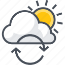 air, cloud, purification, wind icon