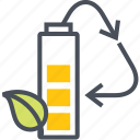battery, electical, energy, recycling icon