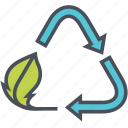compost, green, nature, recycle icon