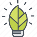 bulb, ecology, green, lamp icon